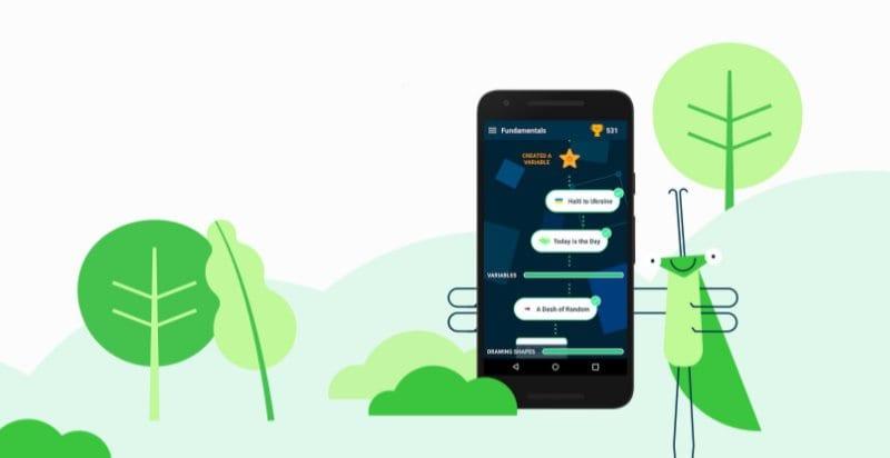 Grasshopper е нова апликација од Area 120 во Google која треба да не научи да програмираме